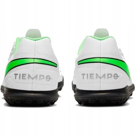 Buty piłkarskie Nike Tiempo Legend 8 Club Tf Junior AT5883 030 białe białe 3