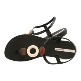 Sandałki japonki Ipanema 26466 Class Modern Fem beżowy brązowe czarne 4