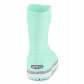 Kalosze Crocs Crocband Rain Boot K Jr 205827-3TO niebieskie 5
