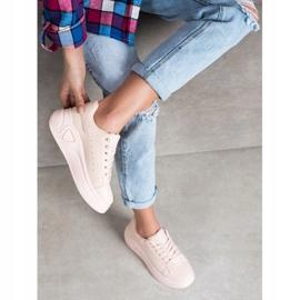 SHELOVET Stylowe Sneakersy Z Eko Skóry różowe 1