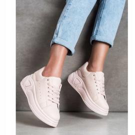 SHELOVET Stylowe Sneakersy Z Eko Skóry różowe 2
