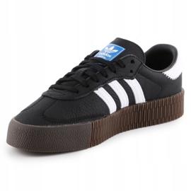 Buty adidas Sambarose W B28156 białe czarne 2