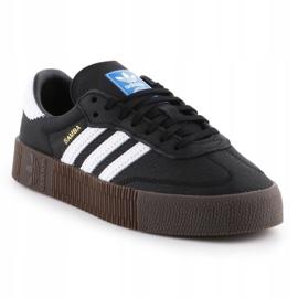 Buty adidas Sambarose W B28156 białe czarne 3