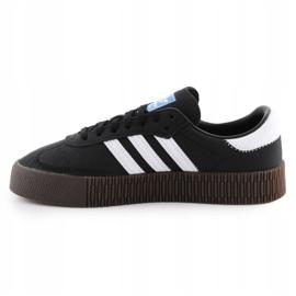 Buty adidas Sambarose W B28156 białe czarne 4