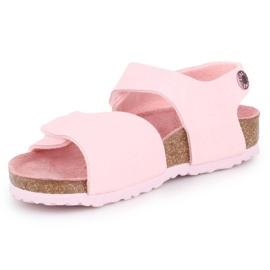 Sandały Birkenstock Palu Kids Logo Bs 1015409 różowe 2