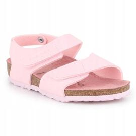 Sandały Birkenstock Palu Kids Logo Bs 1015409 różowe 3