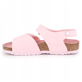 Sandały Birkenstock Palu Kids Logo Bs 1015409 różowe 4