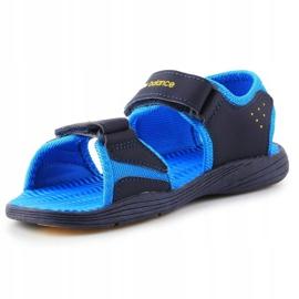 Sandały New Balance Kids Pool Sandal K2004NBL granatowe niebieskie 2