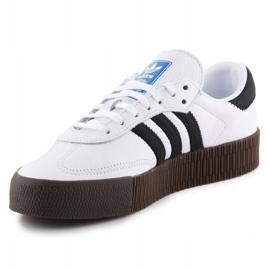 Buty adidas Sambarose W AQ1134 białe czarne 2