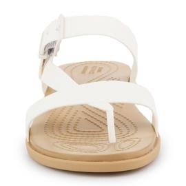Klapki Crocs Tulum Toe Post Sandal W 206108-1CQ białe 1