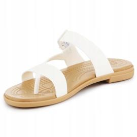 Klapki Crocs Tulum Toe Post Sandal W 206108-1CQ białe 2