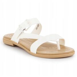 Klapki Crocs Tulum Toe Post Sandal W 206108-1CQ białe 3
