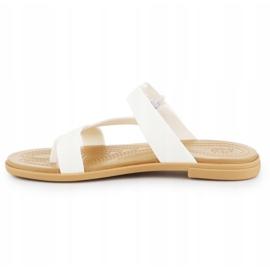 Klapki Crocs Tulum Toe Post Sandal W 206108-1CQ białe 4