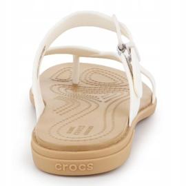 Klapki Crocs Tulum Toe Post Sandal W 206108-1CQ białe 5