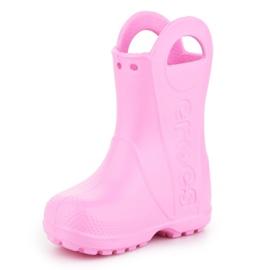 Kalosze Crocs Handle It Rain Boot Kids 12803-612 różowe 2