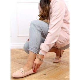 Mokasyny damskie różowe 0F219 Pink 2