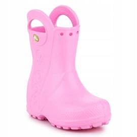 Kalosze Crocs Handle It Rain Boot Kids 12803-612 różowe 3