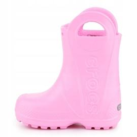 Kalosze Crocs Handle It Rain Boot Kids 12803-612 różowe 4