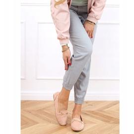 Mokasyny damskie różowe 0F219 Pink 3