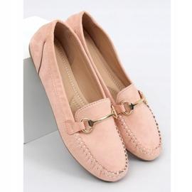 Mokasyny damskie różowe 0F219 Pink 1