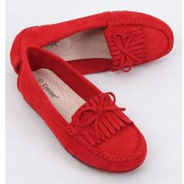 Mokasyny damskie czerwone GS11P Red 1