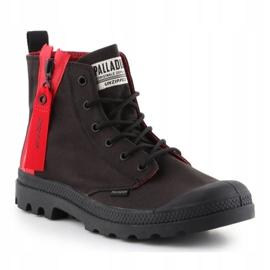 Buty Palladium Pampa Unzipped W 76443-008-M czarne czerwone 3