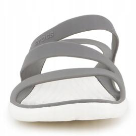 Klapki Crocs Swiftwater Sandal W 203998-06X szare 1
