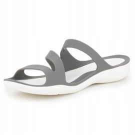Klapki Crocs Swiftwater Sandal W 203998-06X szare 2