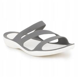 Klapki Crocs Swiftwater Sandal W 203998-06X szare 3