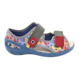 Befado obuwie dziecięce pu 065P162 niebieskie szare wielokolorowe 2