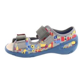 Befado obuwie dziecięce pu 065P162 niebieskie szare wielokolorowe 3
