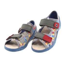 Befado obuwie dziecięce pu 065P162 niebieskie szare wielokolorowe 4