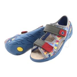 Befado obuwie dziecięce pu 065P162 niebieskie szare wielokolorowe 5
