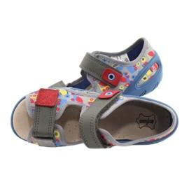 Befado obuwie dziecięce pu 065P162 niebieskie szare wielokolorowe 6