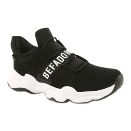 Befado obuwie dziecięce  516X066 białe czarne 1