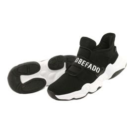 Befado obuwie dziecięce  516X066 białe czarne 3