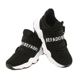 Befado obuwie dziecięce  516X066 białe czarne 4