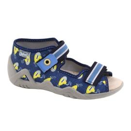 Befado żółte obuwie dziecięce  350P020 niebieskie 1