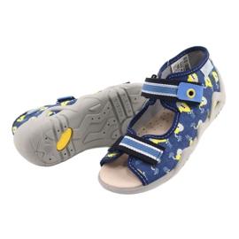 Befado żółte obuwie dziecięce  350P020 niebieskie 3