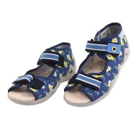 Befado żółte obuwie dziecięce  350P020 niebieskie 2