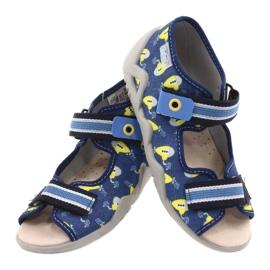 Befado żółte obuwie dziecięce  350P020 niebieskie 4