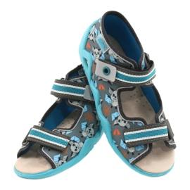 Befado żółte obuwie dziecięce  350P021 niebieskie szare 5