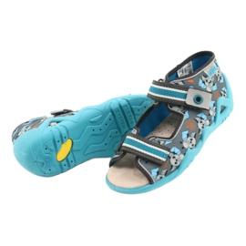Befado żółte obuwie dziecięce  350P021 niebieskie szare 4