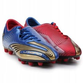 Buty piłkarskie Umbro Revolution Fce II-A Hg M 886669-6CT wielokolorowe granatowy, czerwony, niebieski 3