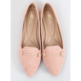 Mokasyny migdałowe noski różowe 3C-6 Pink 3