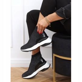 Buty sportowe na ukrytym koturnie czarne RQ286 Black 1