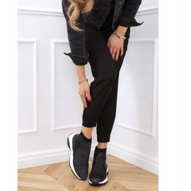 Buty sportowe na ukrytym koturnie czarne RQ286 Black 2