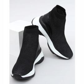 Buty sportowe na ukrytym koturnie czarne RQ286 Black 3