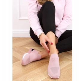 Buty sportowe skarpetkowe różowe LDH006 Pink 1
