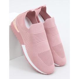 Buty sportowe skarpetkowe różowe LDH006 Pink 3